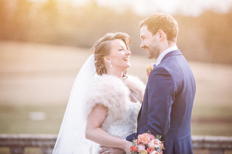Parklands Quendon Hall wedding photos | bride and groom portrait 4
