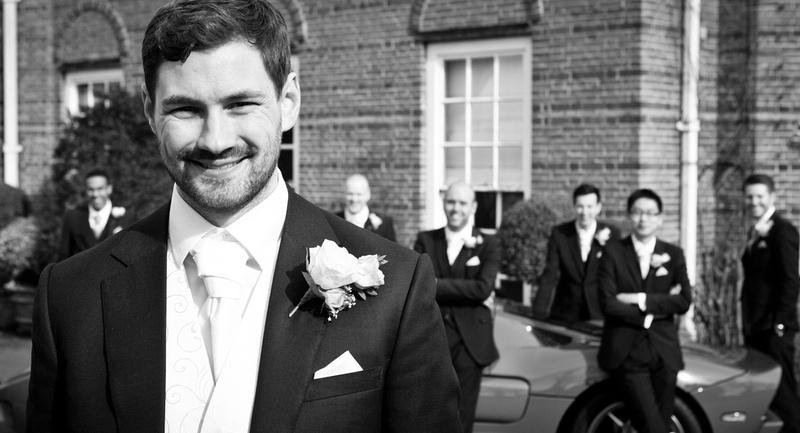 Parklands Quendon Hall wedding photos | Groom portrait