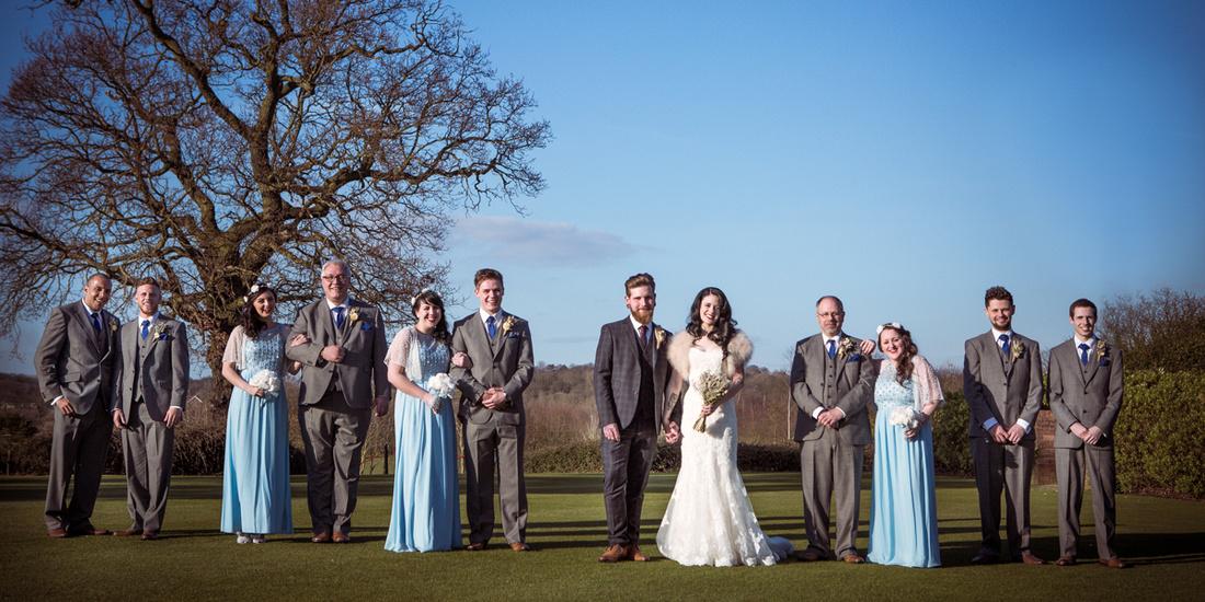 Stock Brook Manor wedding group shot 1