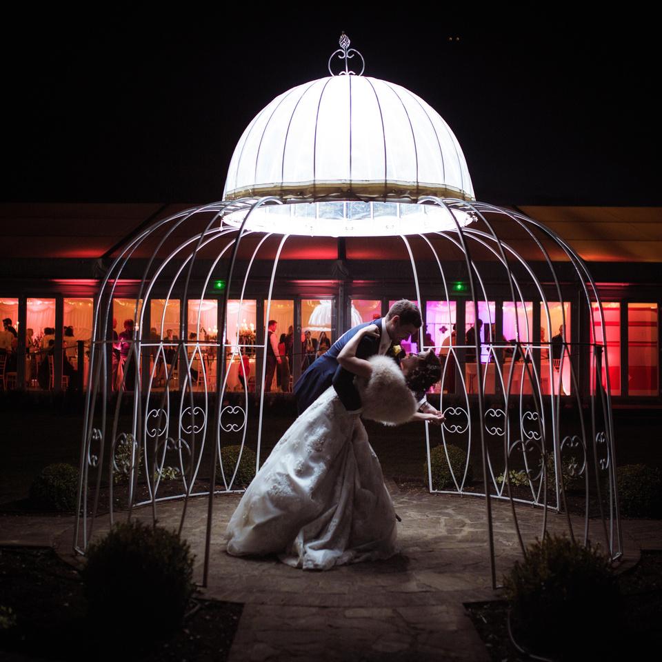 Parklands Quendon Hall evening wedding photos