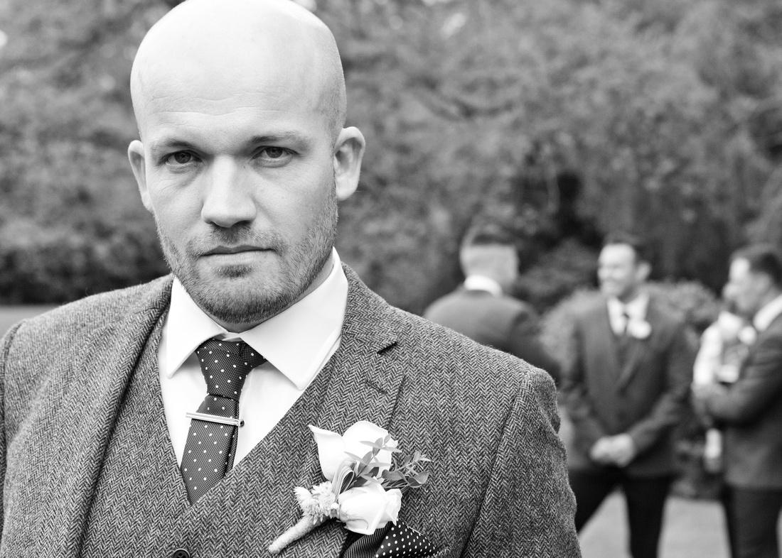 Rochford Hotel wedding photography | Essex | Groom portrait