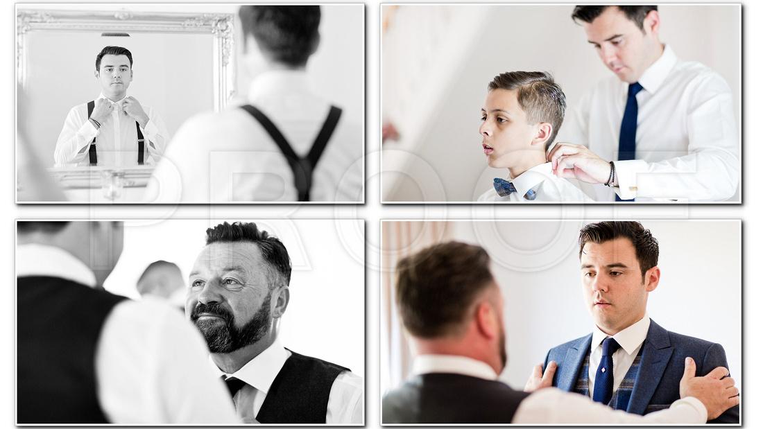 Groomsman photo - High house weddings